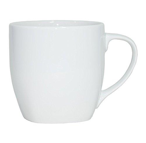Set aus 6 Stück Tassen 400 ml aus echtem Porzellan, auch zum Bemalen bestens geeignet Porzellantassen Tasse Becher für Tee Kaffee Milch Cappuccino