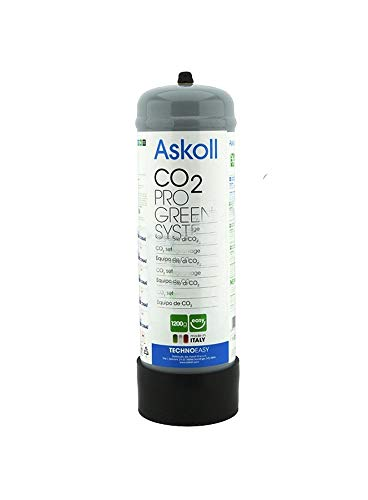 Askoll 001723 Bombola CO2 Non Ricaricabile da 1200g Pro Green System, L
