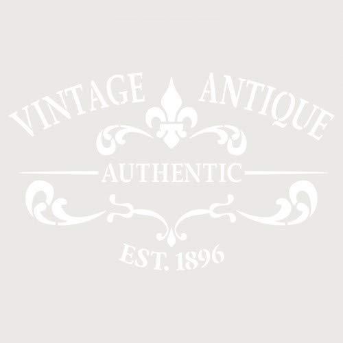 TODO-STENCIL Deco Composición 252 Vintage Antique Medidas exteriores: 20x30 Medidas internas diseño 17 x 28 cm