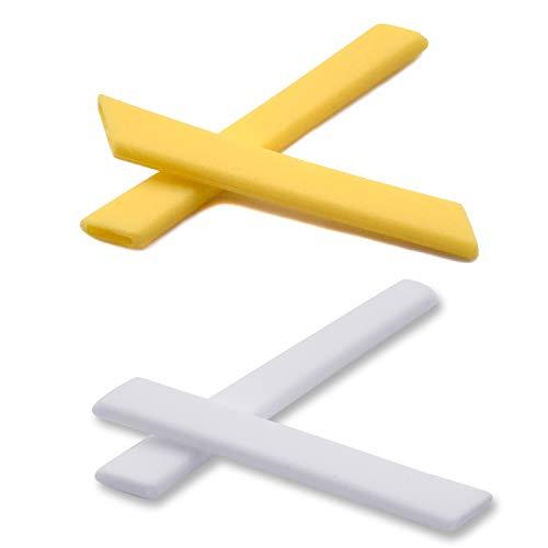 SOODASE Gelb/Weiß Ersatz Silikon Rahmenbein Gummi-Kit Für Oakley Jawbone Sonnenbrille