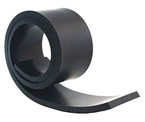 1000mm x 100mm x 10mm Gummistreifen mit Gewebe Gummi-Matte-Platte Vollgummi Schürfleiste Hartgummi
