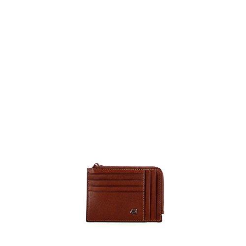 PIQUADRO Square - Tarjetero para Tarjetas de crédito, 12 cm, Cuero (Marrón) - PU1243B3/CU