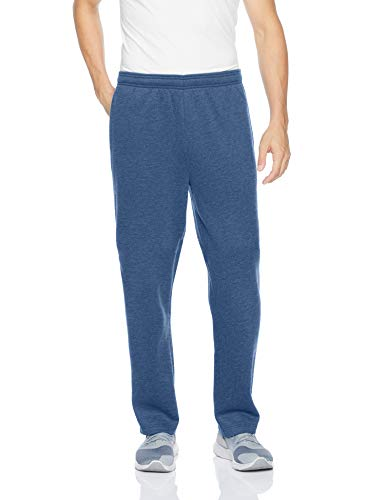 Amazon Essentials Men's Fleece Sweatpants, Blue Heather, Large