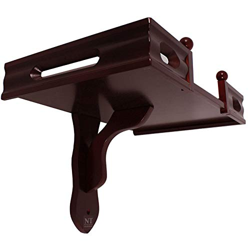 NT furniture Buddha Altar Shelf Stand Wooden Wall Rack Ming (12x18x12.5 inches, Cherry)