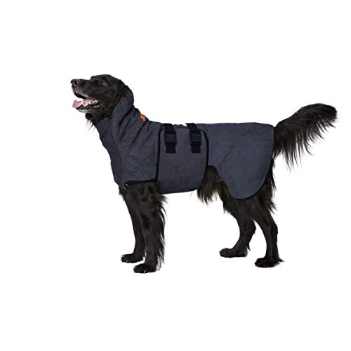 Siccaro Hundemantel WetDog SupremePro   Saugstarker Hundebademantel   Antibakteriell Geruchsreduzierend Bademantel Hund   Hundemantel für Kleine Hunde   Hundemantel Grosse Hunde (Blue Granite, XL)