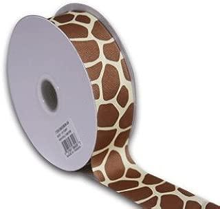 BBCrafts Giraffe Grosgrain Ribbon Animal Print 1-1/2 inch 25 Yards