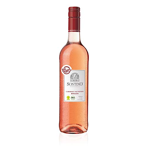 Sontino BioVegan Cabernet Sauvignon Rosato Halbtrocken (1 x 0.75 l) - Roséwein aus Italien