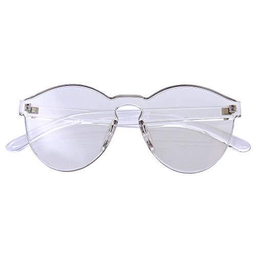 Emblem Eyewear Moda Para Mujer Para Hombre Gafas De Sol Claras Para Novedad UV400 Gafas De Exterior Sin Marco (Claro)