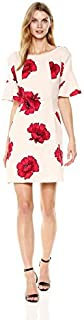 Julian Taylor Women's Bell Sleeve Rose Dress