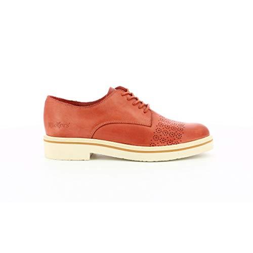 Kickers Oxfork, Zapatos de Cordones Derby para Mujer, Marron Vieux Rose, 37 EU