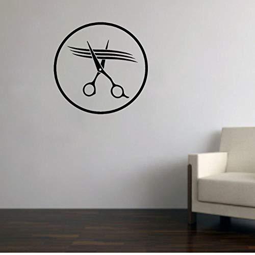 Kappers schaar keuken badkamer huis garderobe spel Cartoon hemel sticker muur kunst DIY 42x42cm