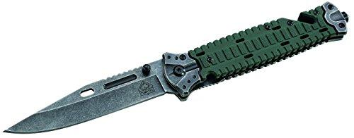 Puma TEC Unisex– Erwachsene Messer Rettungsmesser G10-/Edelstahlschalen Länge geöffnet: 23.8cm, grau, M