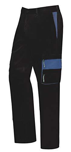 MONZA OBREROL Pantalón De Trabajo Largo De Hombre Multibolsillos Bicolor. Electricista/Carpintero. Coor Negro - Azul Talla 44-46. Ref: 1148