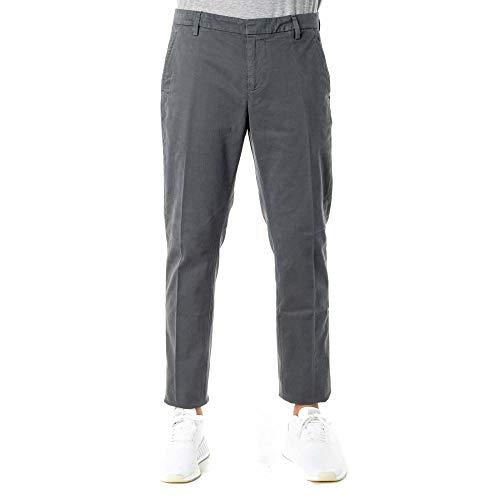 DONDUP Pantalone Gaubert in Misto Cotone UP235GS0043 Dark Gray Size:33
