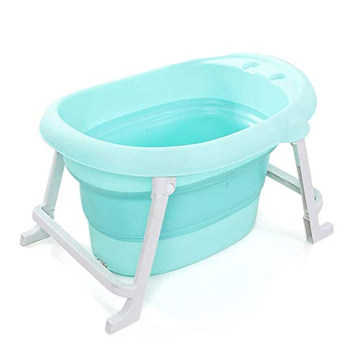 Guotail Plegable bañera de baño-portátil Antideslizante baño de Gran tamaño Cubo/Puede Sentarse y mentir/Aislamiento Espesar Lavabo de la Ducha