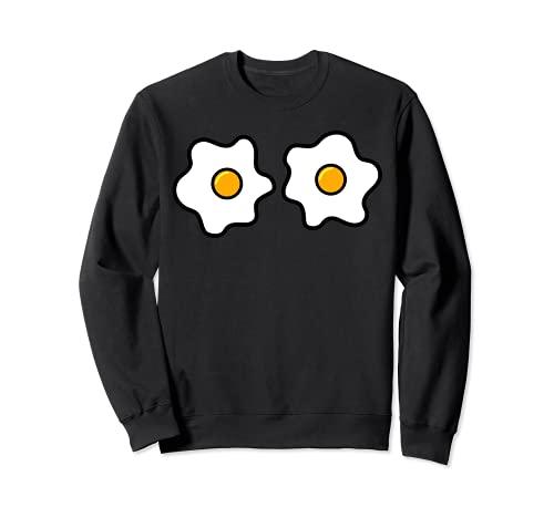 Funny Egg Boobs, disfraz de Halloween para amantes de huevos fritos Sudadera