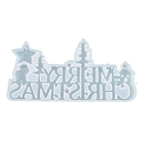 N/A. Resina epoxi de cristal molde de Navidad listado decoración,Colgante de fundición de silicona molde DIY artesanía joyería haciendo herramientas