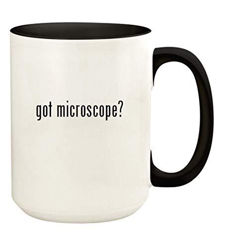 got microscope? - 15oz Ceramic Colored Handle and Inside Coffee Mug Cup, Black