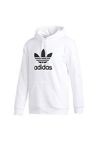 adidas Herren Sweatshirt Trefoil Hoodie, White, S, DU7780