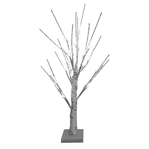 BOICXM 2 piezas de luces de abedul de 23,6 pulgadas, árbol de abedul pintado a mano, cuerda de bonsái, luz blanca cálida, árbol de rama artificial para el hogar, fiesta, festival, decoración de boda