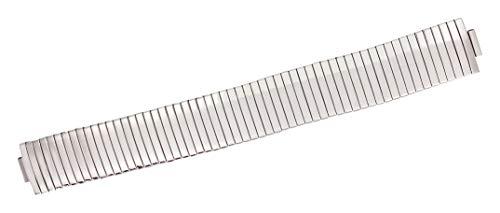 Citime Correa de Reloj de Acero Inoxidable, Color Plata, Banda De Expansión, Correa 17mm - S17003