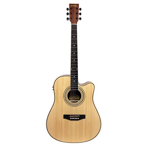 Santana LA-100EQCW NA - Guitarra acústica, color natural