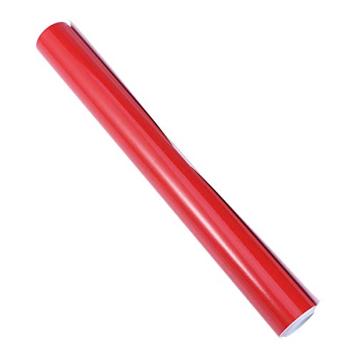 Vosarea Vinilo Adhesivo PVC para Coche Decoración Auto Vehículo Vinilo Traslucido de Coche Rojo Brillante 30X152CM