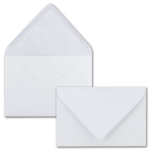 50x Brief-Umschläge 12 x 18 cm ca Din B6 mit Nassklebung- Weiss- stabile 100 g/m² - Post-Umschläge, Brief-kuvert aus Feinst- Papier