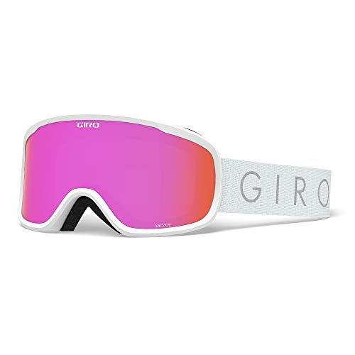 Giro Snow Damen Moxie Skibrille, White core Light Amber pink/Yellow, Einheitsgröße