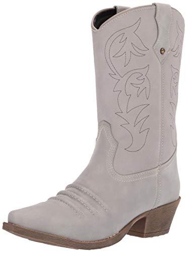 Dingo Boots Women's Prairie Rose, Grey, 7.5 M US