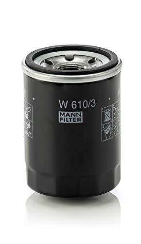 Original MANN-FILTER Filtro de aceite W 610/3 – Para automóviles y vehículos de utilidad