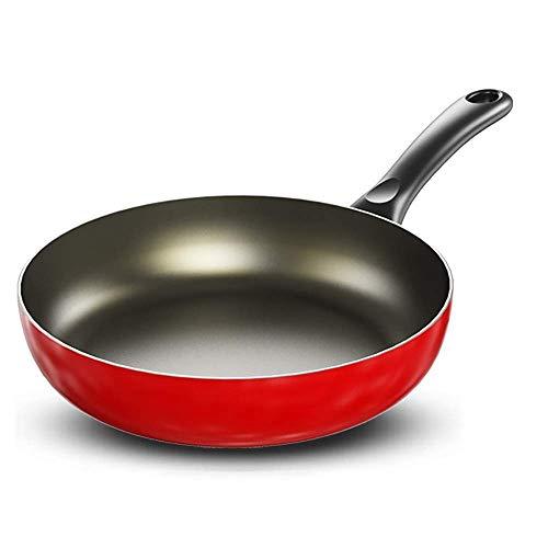 QZH Sartén Sartén de inducción 24cm / 26cm / 28cm Revestimiento Antiadherente Sartenes Sartén para Tortillas Aleación de Aluminio Sartén de Apertura para saltear del Chef Sartén Inferior de Wok