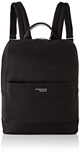 Trussardi Jeans Business City Backpack MD Nylo, Zaino Uomo, Nero (Black), 30.5x14x46 cm (W x H x L)