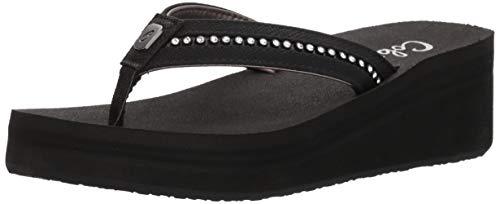 Cobian Women's Tiffany II Black Flip Flops, 8