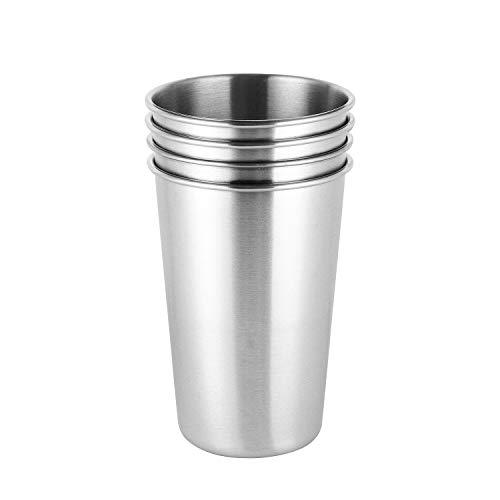 ARKTeK Botes de pintura de acero inoxidable de 17 oz / 500 ml libre de BPA sin plomo [Paquete de 4]