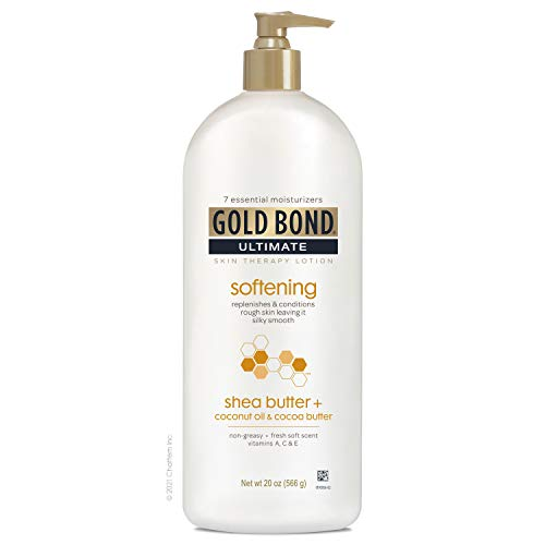 Gold Bond Ultimate Softening Skin Therapy Lotion With Shea Butter for Rough & Dry Skin, 20 oz.