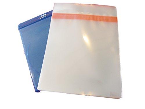 Blu-ray Schutzhülle 11mm Box Verschluß Protected (100 Stück)