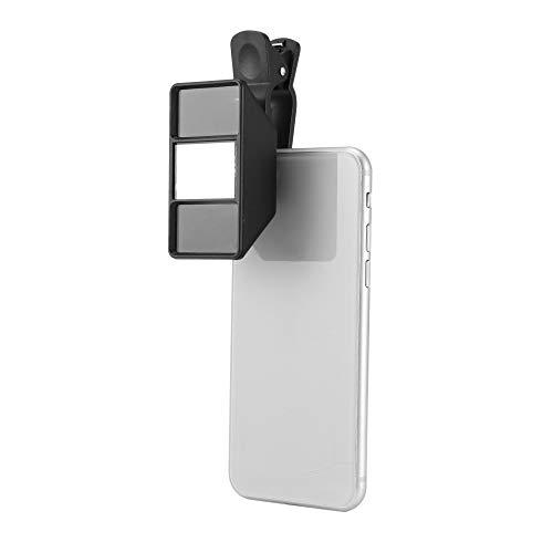 ESCPALATS Handy-Kamera-Objektiv, 3D-Kamera-Stereo-Fotos Fisheye-Objektiv mit Clip, Telefonobjektiv für alle iPhone, Samsung Galaxy, Motorola, LG & Pixel Smartphones