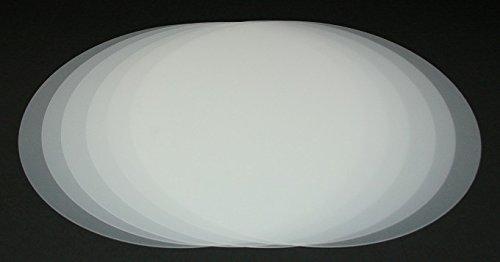 Vogt Foliendruck GmbH Tischset transparent abwaschbar 38 cm rund 6-teilig