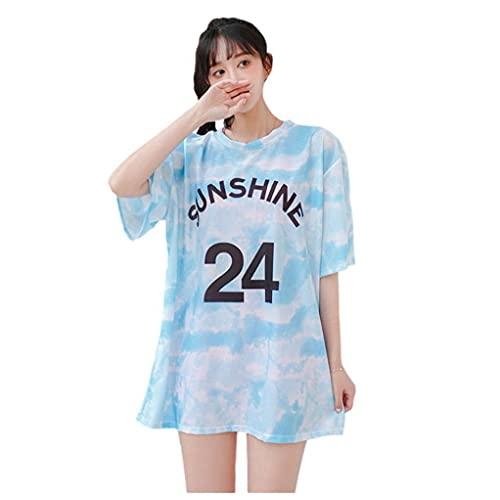 Aiyrchin 3 PC Atractiva de Las Mujeres del Traje de baño del Tinte del Lazo de la Manga de la Camiseta Larga + Bikini Deportes de Lucha contra el Sol Mujer del Traje de baño Traje de baño