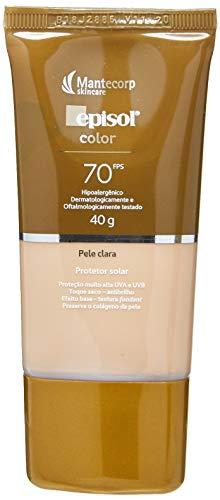 Protetor Solar Color Pele Clara FPS 70, 40g, Episol