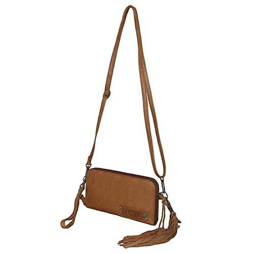 Bag2Bag Schoudertas/Clutch/Portemonnee New Jackson Cognac