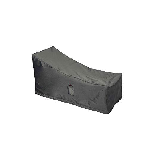 Shield Titanium - Funda para Tumbona de 3 Capas de poliéster para Exteriores, Color Gris Oscuro