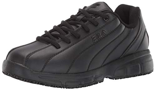 Fila Men's Memory Niteshift Slip Resistant Work Shoe Food Service, Black, 8.5 D US