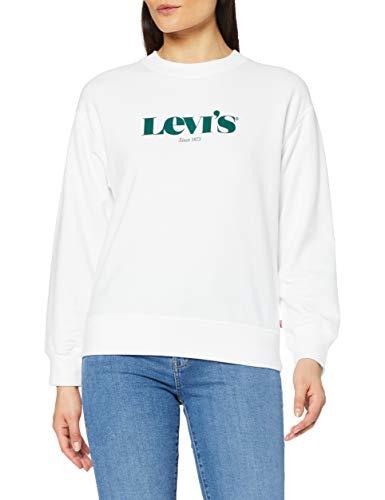 Levi's Graphic Standard Maillot de survtement, Crew New Logo T3 White +, M Femme