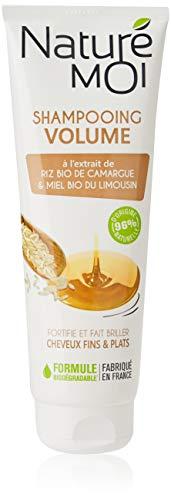 Naturé Moi – Shampooing volume à l'extrait de riz bio de Camargue et miel bio du Limousin – Pour les cheveux fins et plats – 250ml