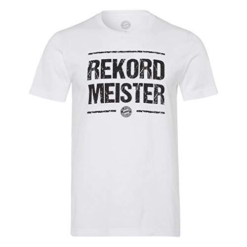 FC Bayern München Rekordmeister T-Shirt (M, weiß)