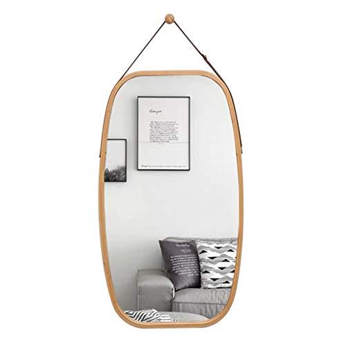 QDY-Wall-Mounted Vanity Mirrors Espejo de tocador Decorativo Colgante de bambú, Espejo de Pared Grande para Colgar en la Pared, Espejo de Pared, decoración para Cuarto de baño de bebé, guardería
