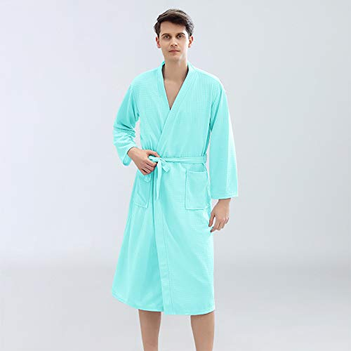 Handaxian Bademantel Dünne Damenbademäntel Wasserabsorbierender und schnelltrocknender Schlafanzug Hausbekleidung für Herren und Damen Paare Nachthemd XL