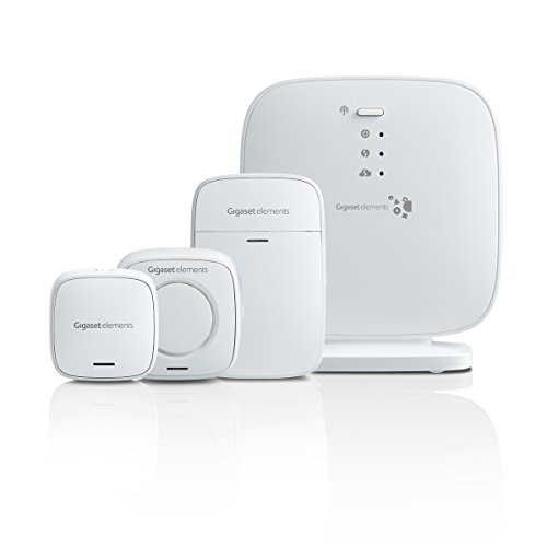 Gigaset Alarmanlage Haus Funk Komplettset für Einsteiger - mit lauter Alarmsirene, Bewegungsmelder, Tür-Alarm
